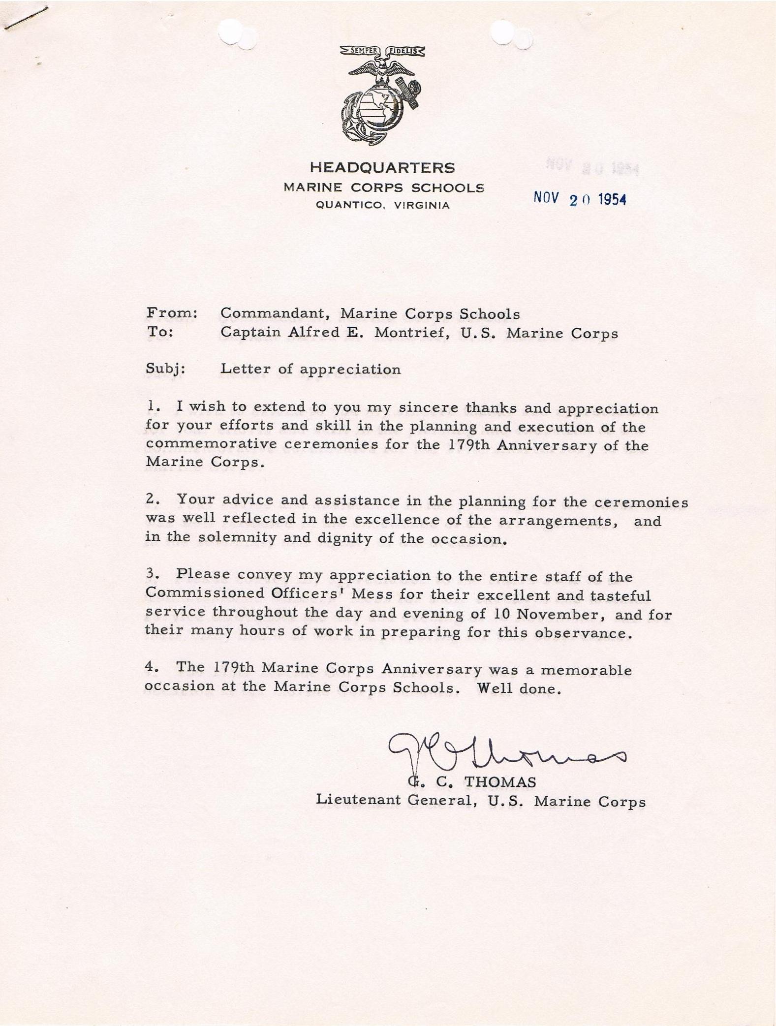 letter of appreciation sample usmc resume writing resume letter of appreciation sample usmc mcicomo 16501 marine corps installations east usmc letter of appreciation template