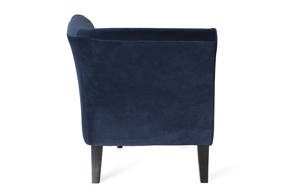 Chaise Navy Elmo Chaise Navy Velvet Right Hand Facing Michael Murphy