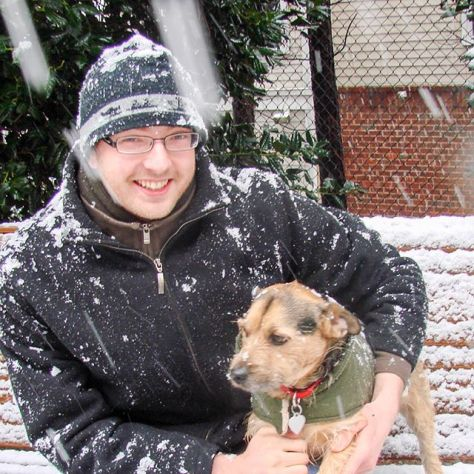 "#tbt to rando ""snowstorm"" of march '09. as you can tell, edgar was. not. a. fan. #patterdale"