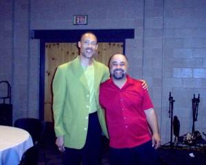 MP with Wayman Tisdale Sax Man Tom Braxton