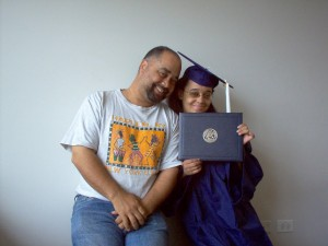 Proud dad with daughter Mica!