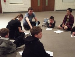 Notes with the cast of Young Actors Theater Company in Eagan, MN, USA.