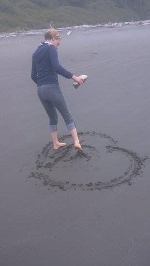 Katie on Ruby Beach