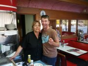 My favorite server, Mary, at my favorite restaurant, Mickey's Dining Car, St. Paul, MN, USA.