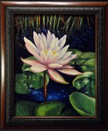Lotus Flower Oil Painting by Michelle East