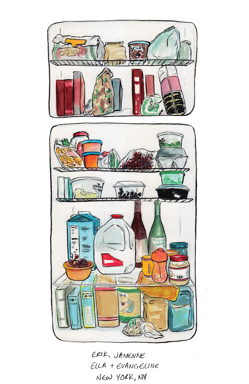 Frigo Avec Freezer What's In Your Fridge? | Michelle Kondrich Illustration