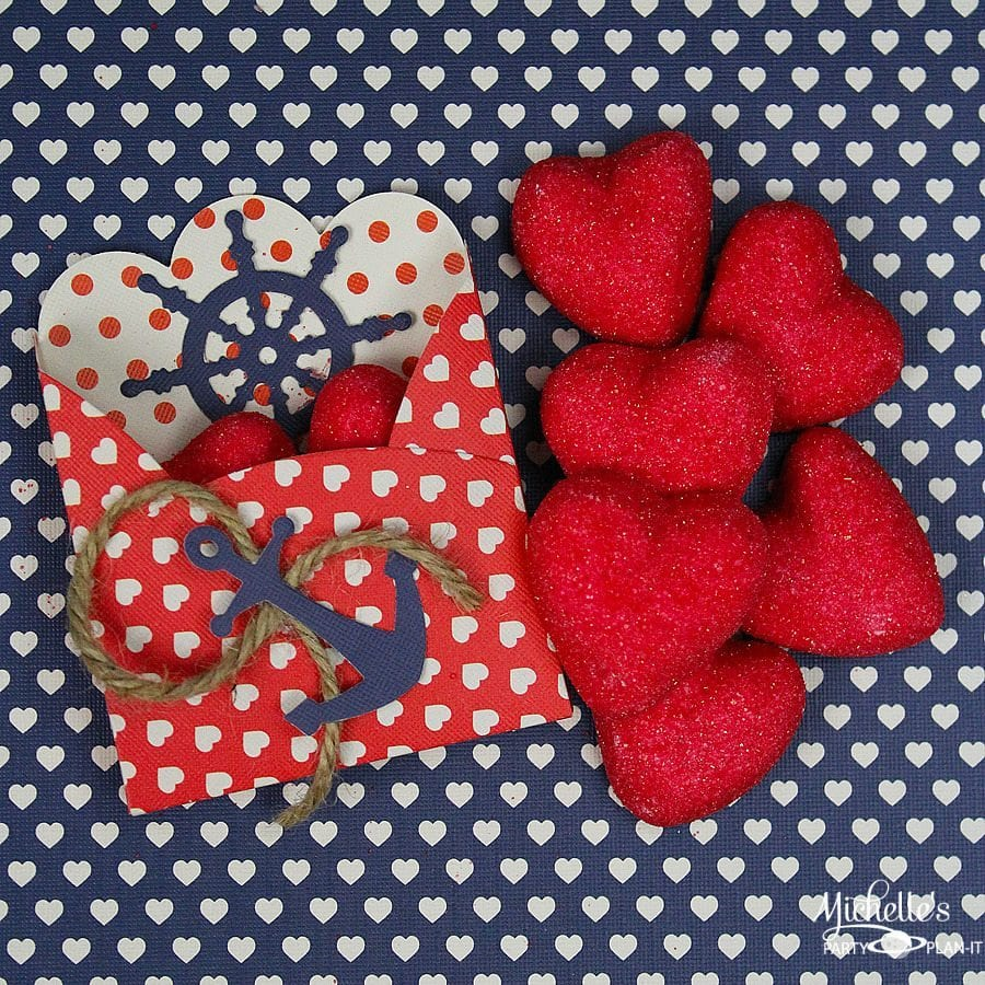 Nautical Valentine Treat Box by Michelle's Party Plan It
