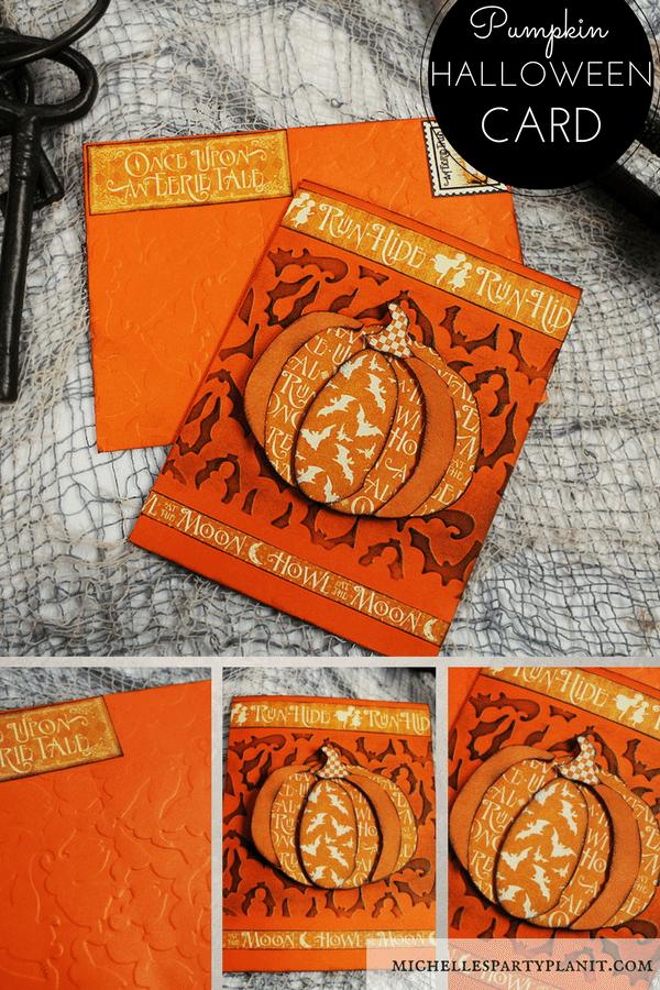 Spooky Pumpkin Halloween Card #DIYItsFallOhMy