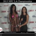 2013 NPC News LA Championship interview Bikini Michelle Tarajcak