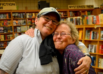 My two biggest supporters in one place on the same night - my wife, Sabrina Temple, and friend, publisher, and writing inspiration, Ruth Thompson.