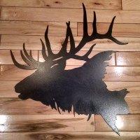 Metal Elk Head Silhouette Wall Art | Rebel Metal Works