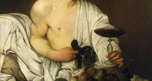 """Painting by Caravaggio entitled """"Bacchus"""", in the Uffizi Gallery in Florence1990Caravaggio, Michelangelo Merisi, known as (1571-1610)1597Florence - The Uffizi Gallery"""