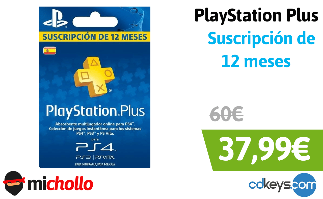 Playstation Plus 12 Meses Playstation Plus Suscripción De 12 Meses Michollo