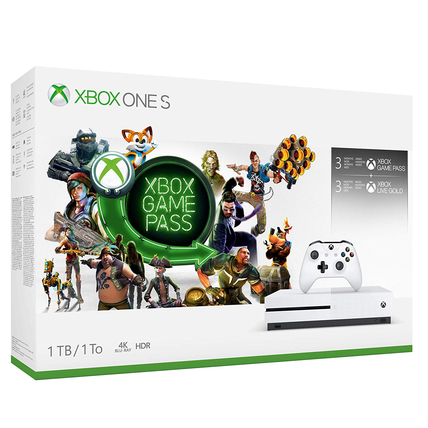 Xbox Live Gold 1 Mes Gratis Xbox One S 1tb 3 Meses Gamepass Y 3 Meses Xbox Live Gold