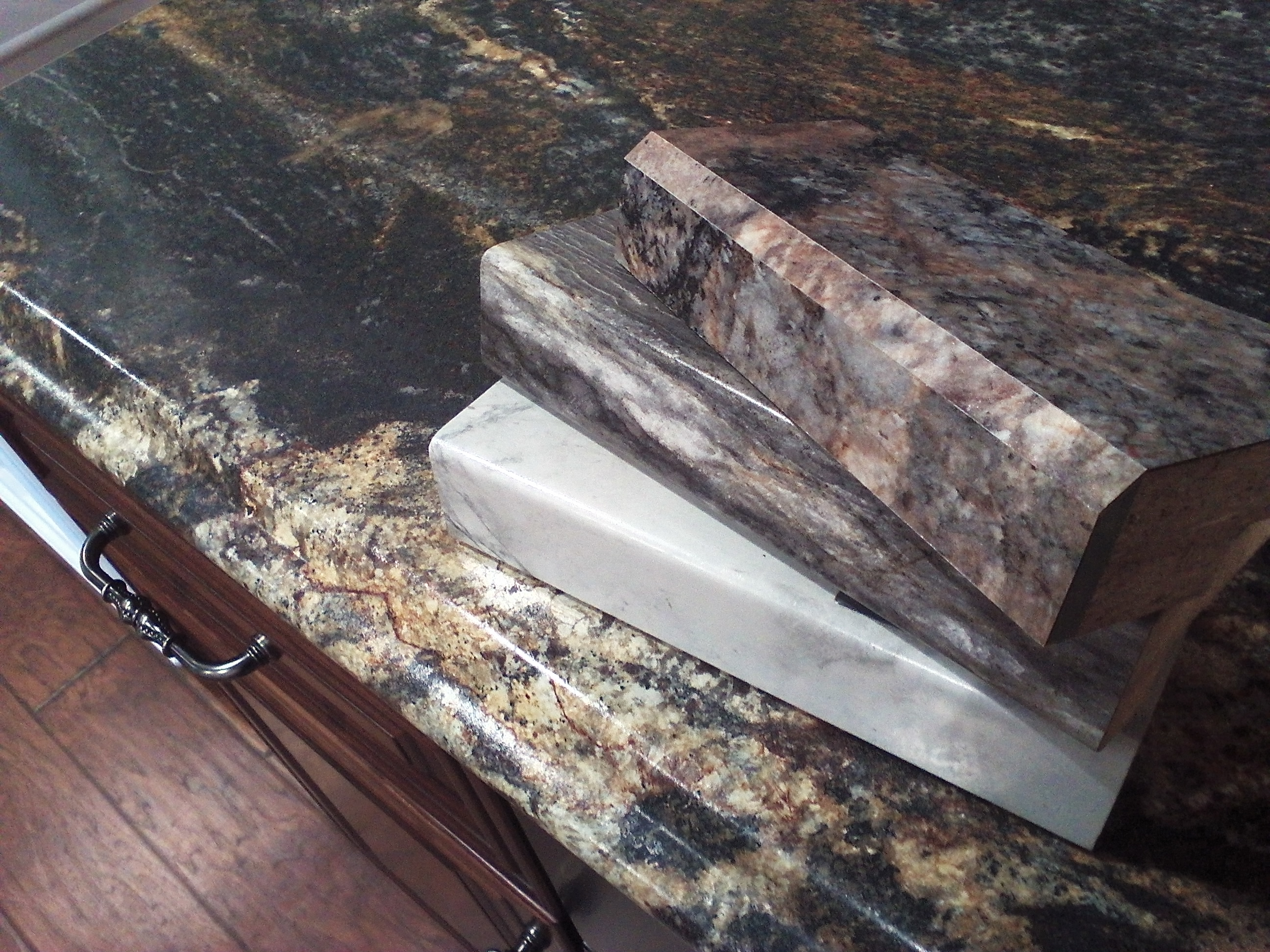 Copper Laminate Countertops Countertop Rainforest Granite With Copper Sink Micka