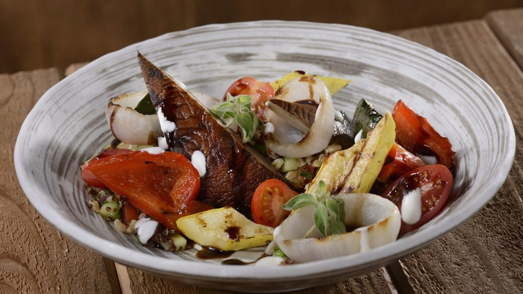 Grilled Portabello Salad at Geyser Point