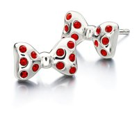 Minnie Mouse Chamilia Silver Bow Earrings   Mickey Fix