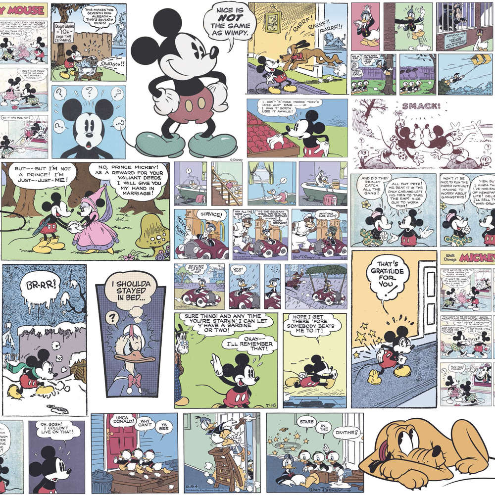 Tapete Comic Disney Tapete 3011 1 Mickey Mouse Farbig