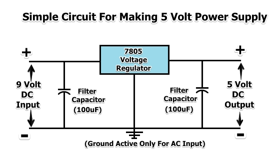 generating 5 volts from a 9 volt battery