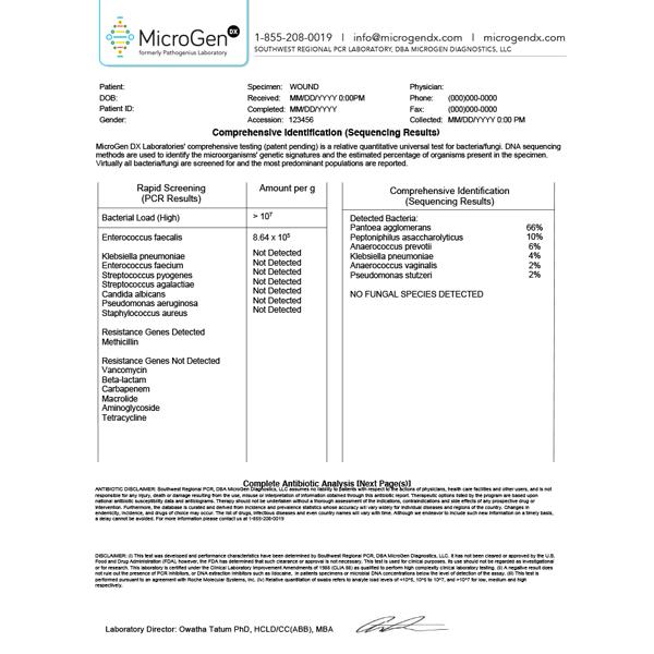 Sample Reports MicroGen Diagnostics