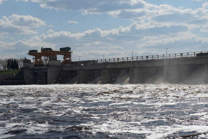 river hydroelectric power station