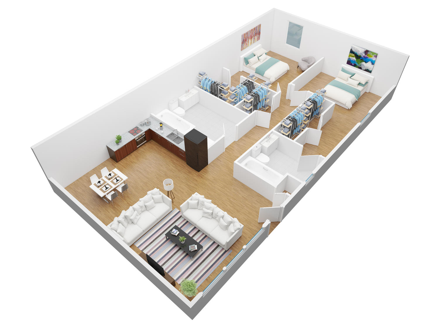 3d Planer 3d Floor Plan Modeling And Rendering By Vertex Design On