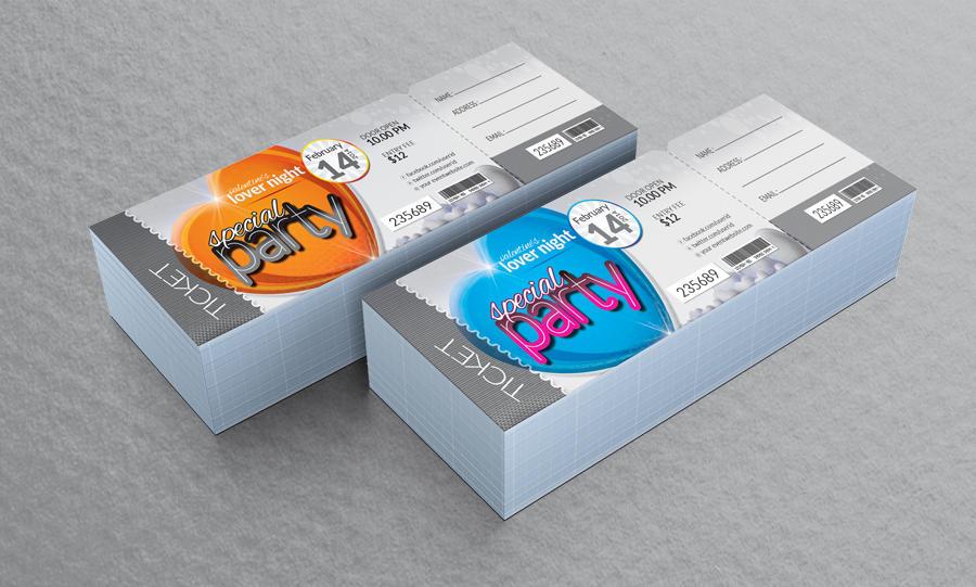 Special Event Ticket Design by ContestDesign on Envato Studio