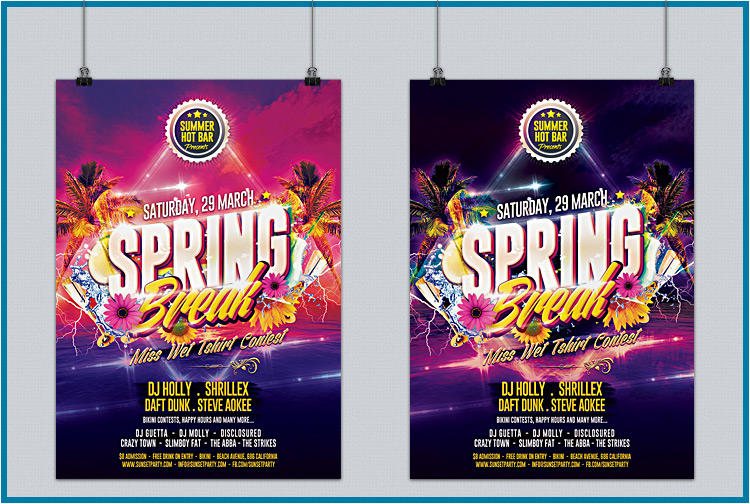 Business, Commerce and Party Flyer Design by GilleDeVille on Envato