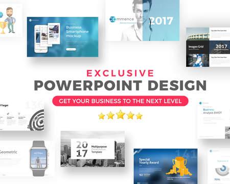 Clean Powerpoint Presentation Design by terusawa on Envato Studio