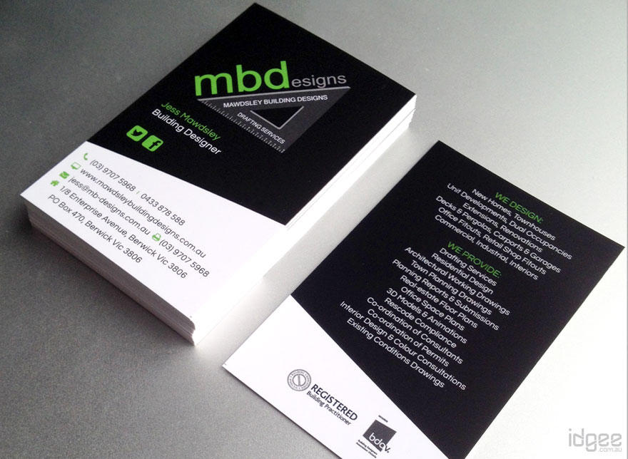 High Quality, Unique Double Sided Business Card Design by idgee on