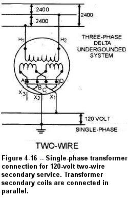 120 240v transformer Schaltplang secondary