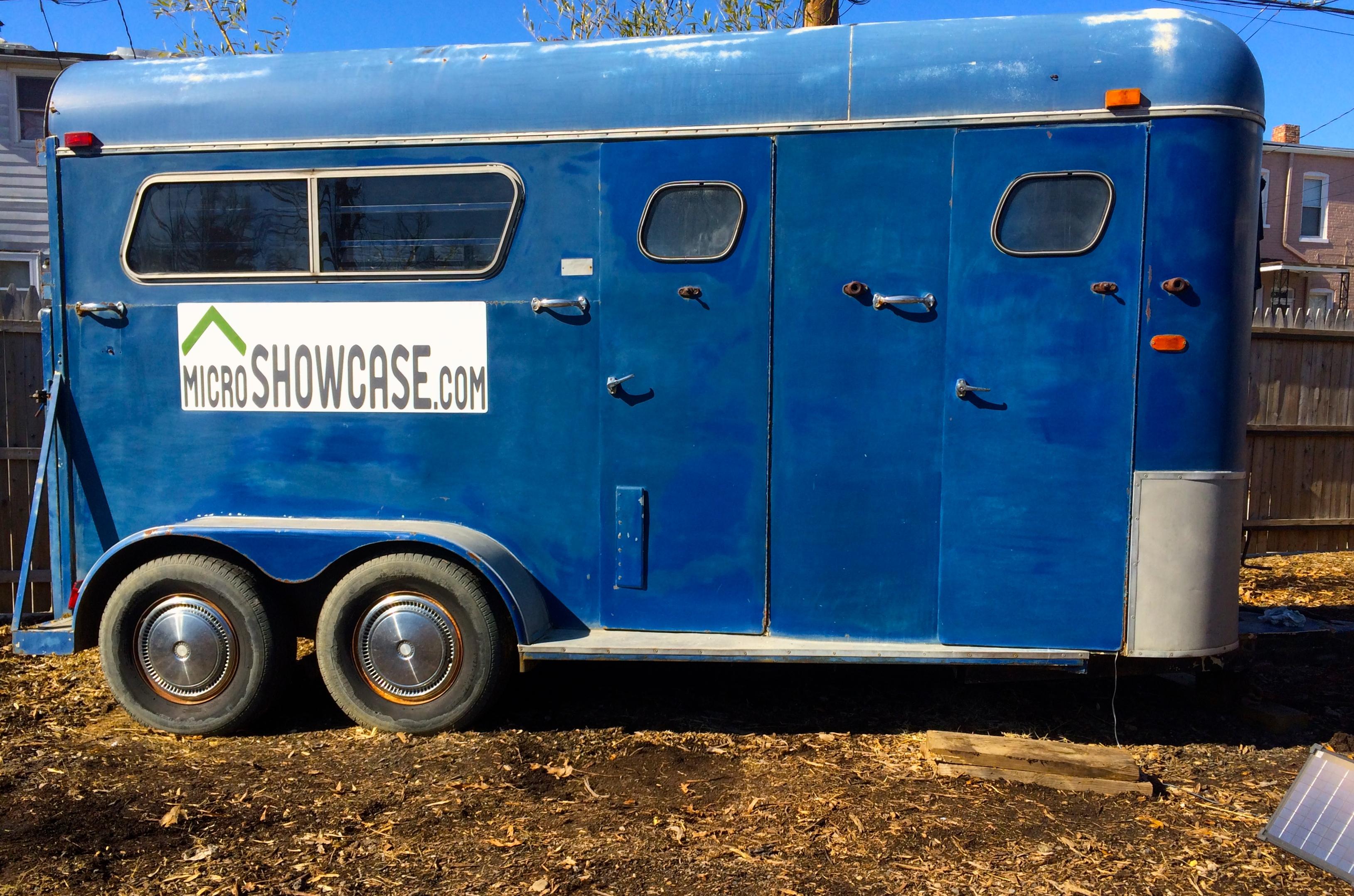 Horse trailer arrives