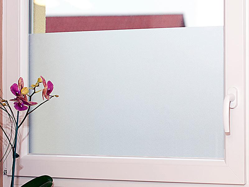 infactory Milchglasfolie, statisch haftende Sichtschutz-Folie, 40 - badezimmer fensterfolie