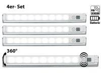 Lunartec Schrankbeleuchtung: 4er-Set LED-Lichtleisten mit ...