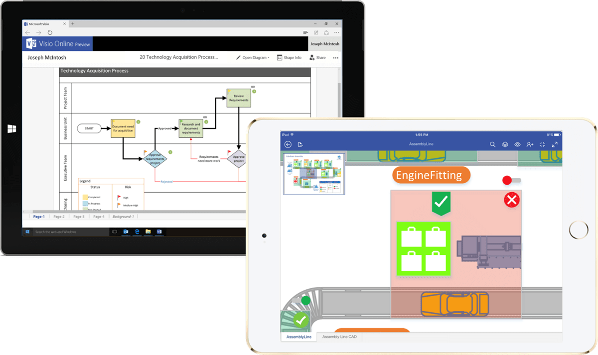 Visio Office Visio Is Coming To The Web And Ios Microsoft 365 Blog