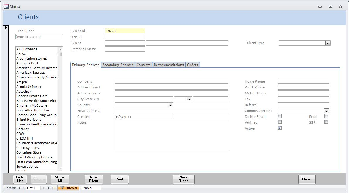 Microsoft Access Database Pros Sample MS Access Database Forms and - sample form