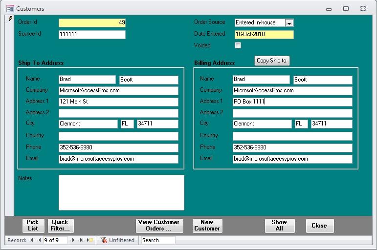 customer form sample - Romeolandinez
