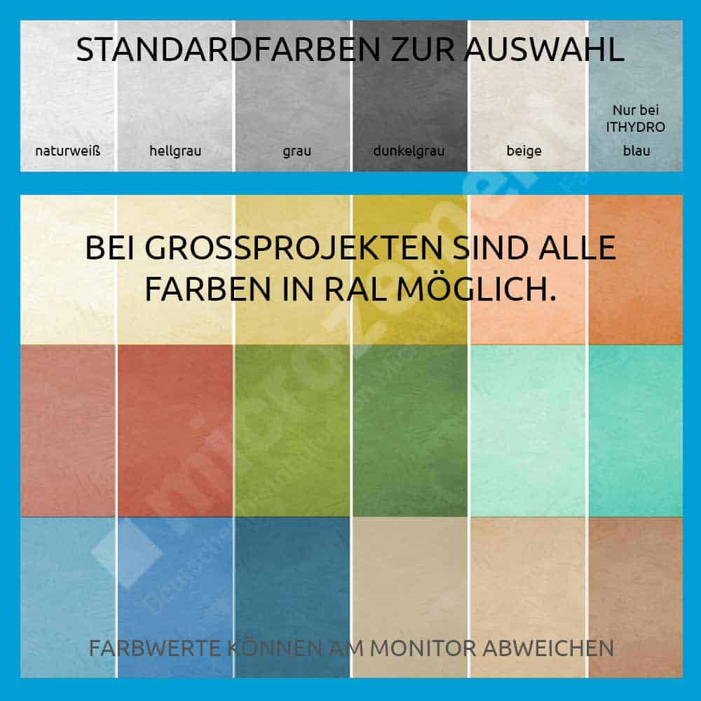 Ral Farbtafel Farbpalette Itwall Ithydro Itfloor Microzement
