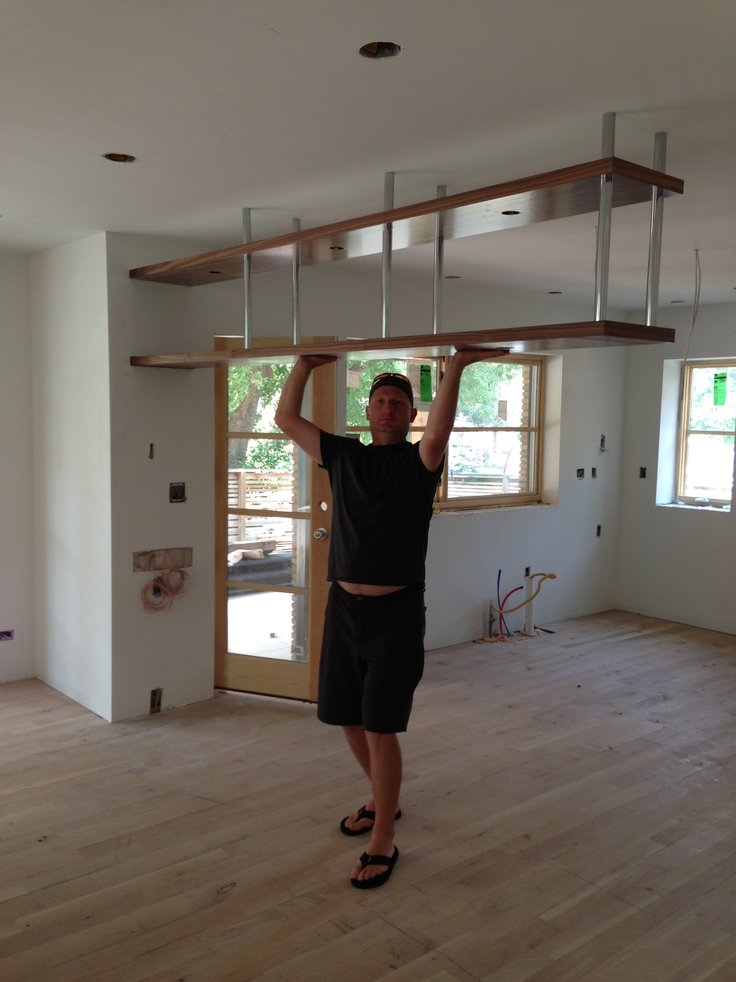 Kitchen Cabinet Hanging How To Hang Kitchen Cabinets From Ceiling Roselawnlutheran