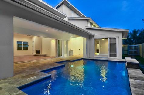 mid century modern pool