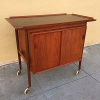 Teak Danish Modern Bar Cart - SOLD - midcenturysanjose