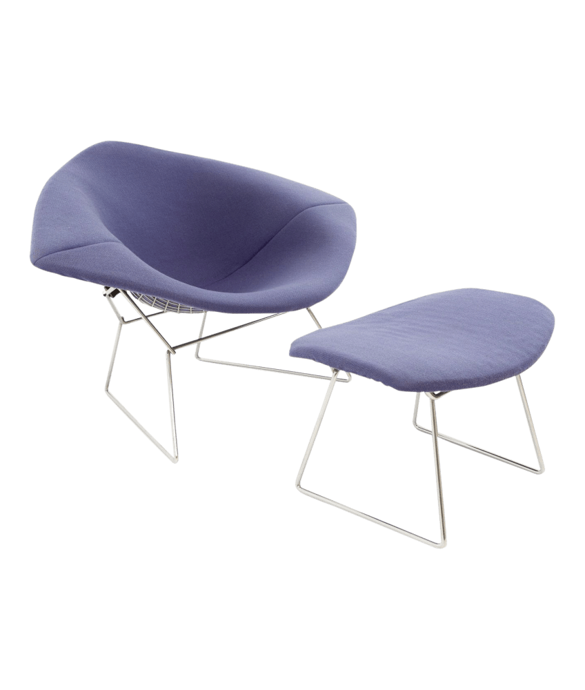 Chaise Diamond Bertoia Harry Bertoia For Knoll Extra Large Diamond Rocking Chair And Ottoman