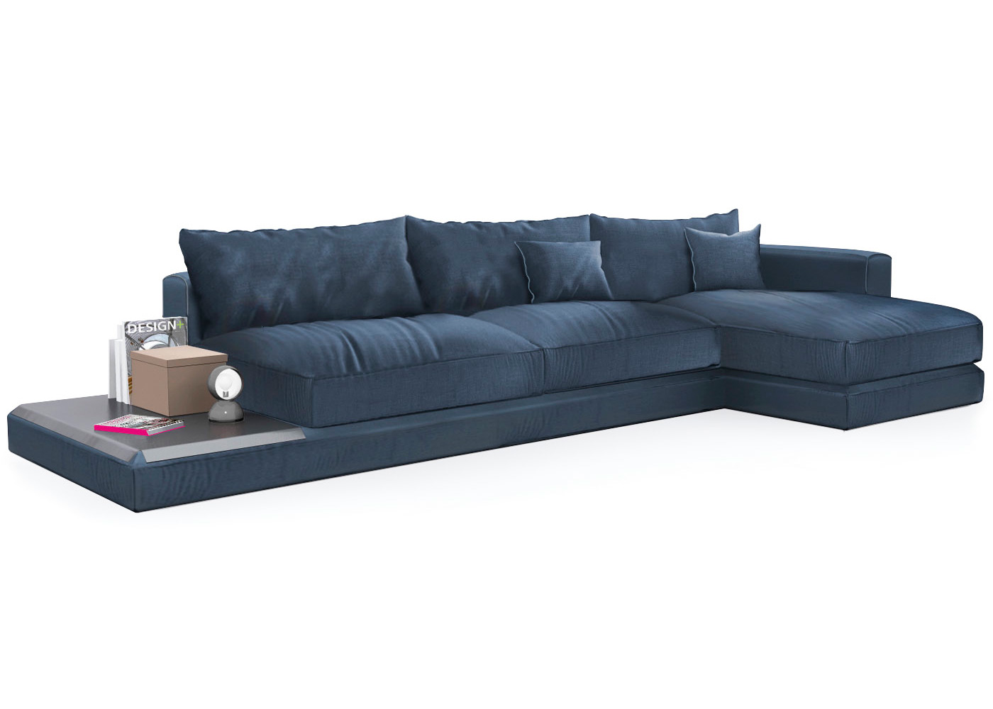 Chaise Calligaris Calligaris Kora Chaise Sofa Inlcuding Leather Tray