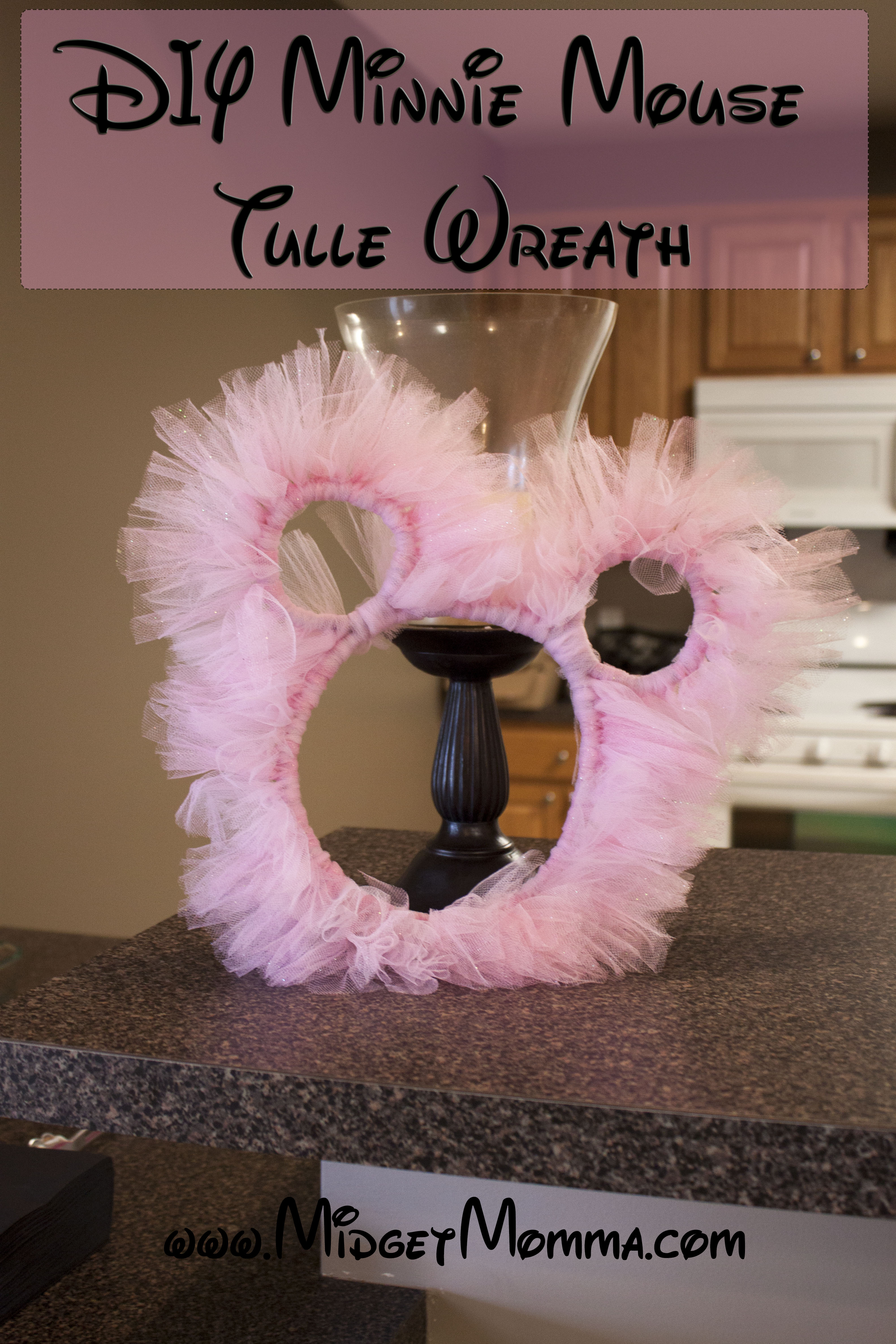 Disney Mickey Minnie And Diy Minnie Mouse Tulle Wreath