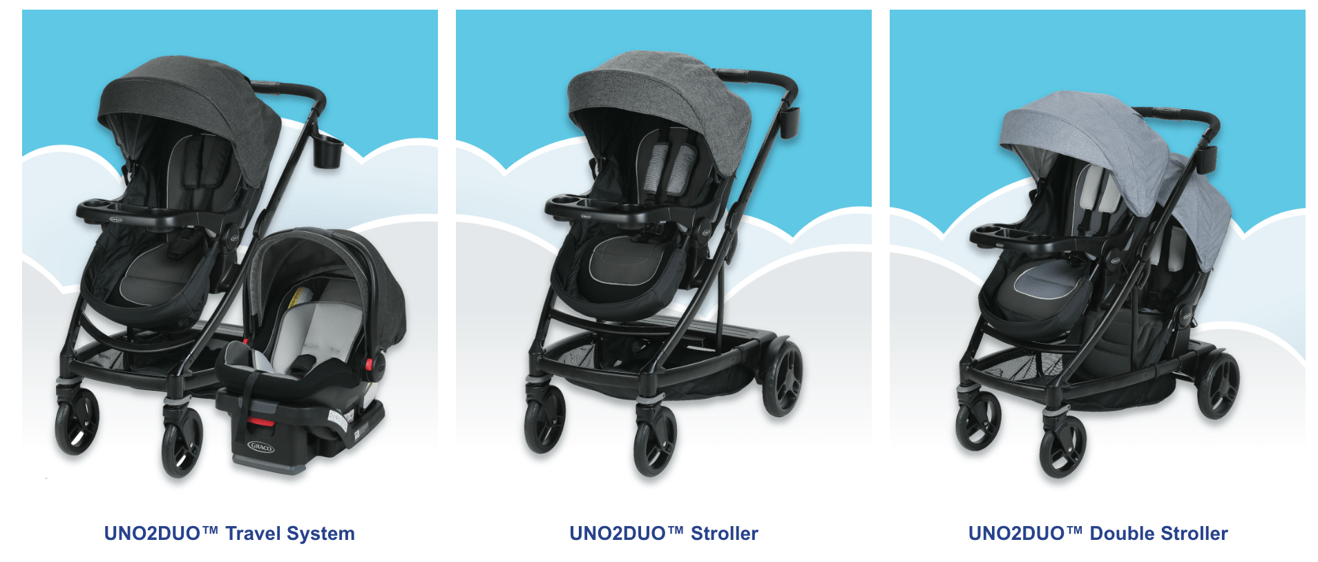 Uno2duo Stroller Graco Dream Big Sweepstakes Winners Win Uno2duo Travel System
