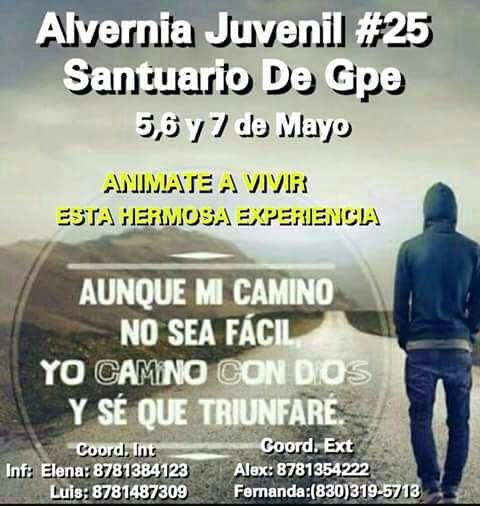 SANTUARIO DE GUADALUPE INVITA A SU ALVERNIA JUVENIL #25