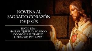 NOVENA AL SAGRADO CORAZÓN DE JESÚS  SEXTO DÍA