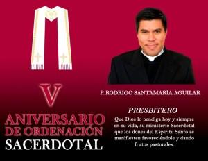 V ANIVERSARIO SACERDOTAL DE RODRIGO SANTAMARÍA