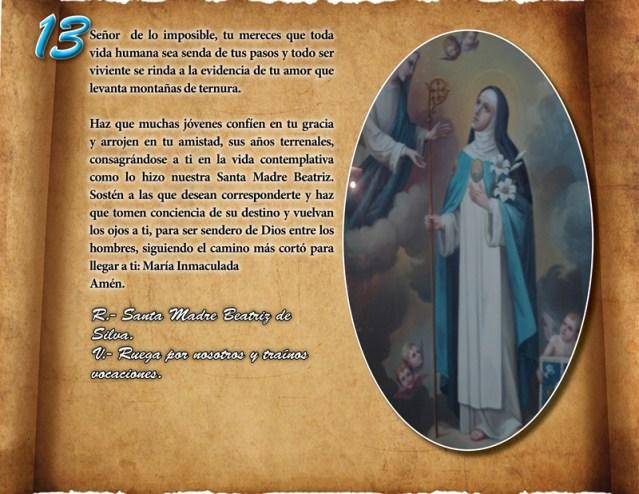 ORACIÓN VOCACIONAL CONCEPCIONISTA DÍA 13