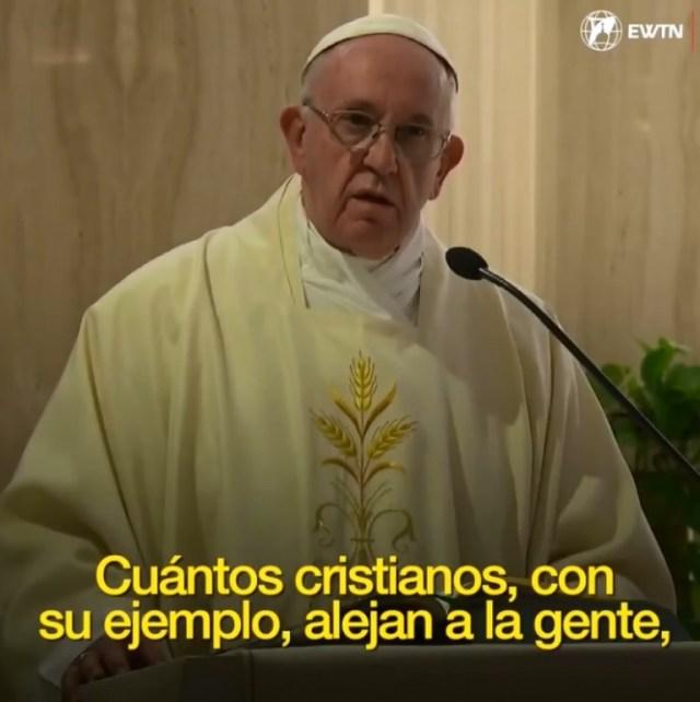 VIDEO: El Papa pide cristianos coherentes que no causen escándalo ante el pueblo de Dios